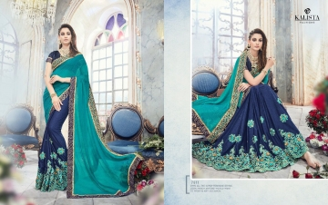 KALISTA FASHION EMPEROR CATALOG FANCY EMBROIDERED PARTY WEAR SAREES WHOLESALE DEALER BEST EXPORTS SURAT (8)
