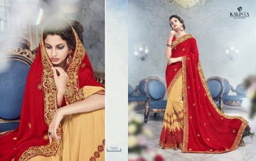 KALISTA FASHION EMPEROR CATALOG FANCY EMBROIDERED PARTY WEAR SAREES WHOLESALE DEALER BEST EXPORTS SURAT (9)