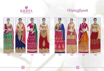 KALISTA FASHION GHUNGHAT BRIDAL WEAR LEHENGA COLLECTION BUY AT WHOLESALE BEST RATE BY GOSIYA EXPORTS SURAT (8)