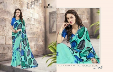 KALISTA FASHION LILY VOL 1 GEORGETTE PRINTS SAREES WHOLSALER BEST RATE BY GOSIYA EXPORTS (1)