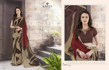KALISTA FASHION LILY VOL 1 GEORGETTE PRINTS SAREES WHOLSALER BEST RATE BY GOSIYA EXPORTS (10)