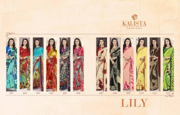KALISTA FASHION LILY VOL 1 GEORGETTE PRINTS SAREES WHOLSALER BEST RATE BY GOSIYA EXPORTS (12)