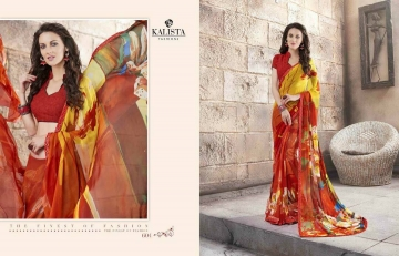 KALISTA FASHION LILY VOL 1 GEORGETTE PRINTS SAREES WHOLSALER BEST RATE BY GOSIYA EXPORTS (3)