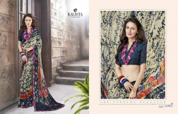 KALISTA FASHION LILY VOL 1 GEORGETTE PRINTS SAREES WHOLSALER BEST RATE BY GOSIYA EXPORTS (4)