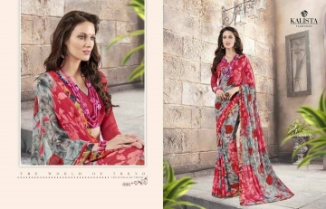 KALISTA FASHION LILY VOL 1 GEORGETTE PRINTS SAREES WHOLSALER BEST RATE BY GOSIYA EXPORTS (5)