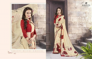 KALISTA FASHION LILY VOL 1 GEORGETTE PRINTS SAREES WHOLSALER BEST RATE BY GOSIYA EXPORTS (6)