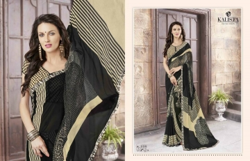 KALISTA FASHION LILY VOL 1 GEORGETTE PRINTS SAREES WHOLSALER BEST RATE BY GOSIYA EXPORTS (7)