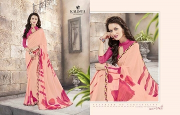 KALISTA FASHION LILY VOL 1 GEORGETTE PRINTS SAREES WHOLSALER BEST RATE BY GOSIYA EXPORTS (8)