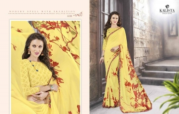 KALISTA FASHION LILY VOL 1 GEORGETTE PRINTS SAREES WHOLSALER BEST RATE BY GOSIYA EXPORTS (9)
