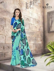 KALISTA FASHION LILY VOL 1 GEORGETTE PRINTS SAREES WHOLSALER BEST RATE BY GOSIYA EXPORTS