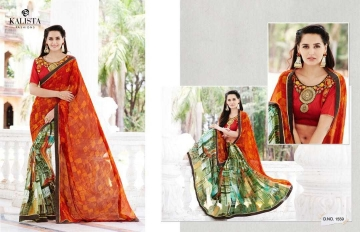 KALISTA LOTOUS VOL 3 GEORGETTE PRINT SAREES CATALOG WHOLESALE RATE SURAT BY GOSIYA EXPORTS SURAT (6)