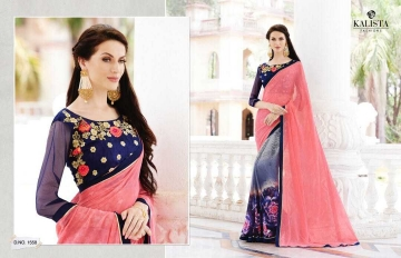 KALISTA LOTOUS VOL 3 GEORGETTE PRINT SAREES CATALOG WHOLESALE RATE SURAT BY GOSIYA EXPORTS SURAT (8)