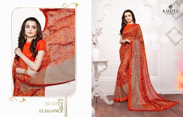 Kalista olive designer printed sarees catalog WHOLESALE BEST RATE BY GOSIYA EXPORTS (1)