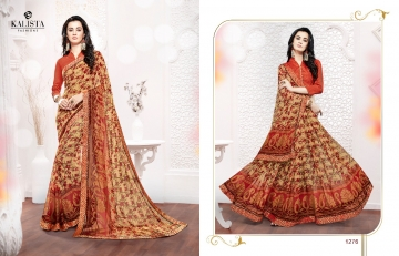Kalista olive designer printed sarees catalog WHOLESALE BEST RATE BY GOSIYA EXPORTS (11)