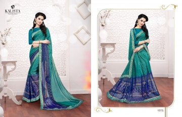 Kalista olive designer printed sarees catalog WHOLESALE BEST RATE BY GOSIYA EXPORTS (12)