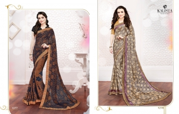 Kalista olive designer printed sarees catalog WHOLESALE BEST RATE BY GOSIYA EXPORTS (13)