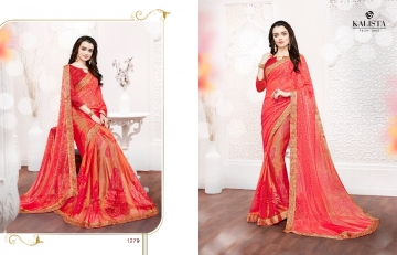 Kalista olive designer printed sarees catalog WHOLESALE BEST RATE BY GOSIYA EXPORTS (14)