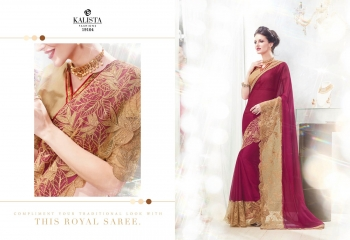 Kalista starlet party wear saree catalog WHOLESALE BEST RATE (12)