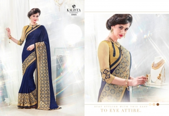 Kalista starlet party wear saree catalog WHOLESALE BEST RATE (13)