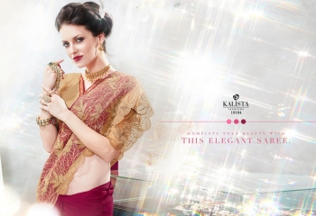 Kalista starlet party wear saree catalog WHOLESALE BEST RATE (15)