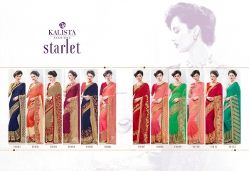 Kalista starlet party wear saree catalog WHOLESALE BEST RATE (3)