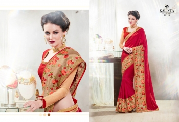 Kalista starlet party wear saree catalog WHOLESALE BEST RATE (4)