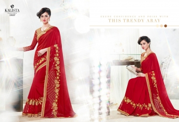 Kalista starlet party wear saree catalog WHOLESALE BEST RATE (8)