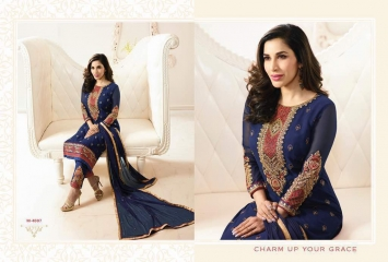 KARMA TRENDZ MAHIRA GEORGETTE SUIT WHOLESALE RATE AT GOSIYA EXPORTS SURAT (7)