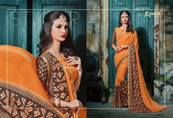 KARTIK SAREE LAKME PRINTED SAREE CATALOG IN WHOLESALE BEST RATE BY GOSIYA EXPORTS FROM SURAT (5)