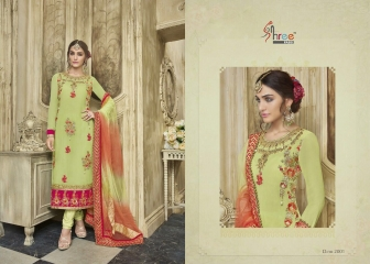 KARVA FESTIVAL BY SHREE FAB DESIGNER WITH EMBROIDERY WORK GEORGETTE SUITS ARE AVAILABLE AT WHOLESALE BE (220)