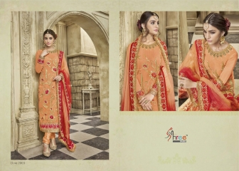 KARVA FESTIVAL BY SHREE FAB DESIGNER WITH EMBROIDERY WORK GEORGETTE SUITS ARE AVAILABLE AT WHOLESALE BE
