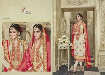 KARVA FESTIVAL BY SHREE FAB DESIGNER WITH EMBROIDERY WORK GEORGETTE SUITS ARE AVAILABLE AT WHOLESALE BEST (1)