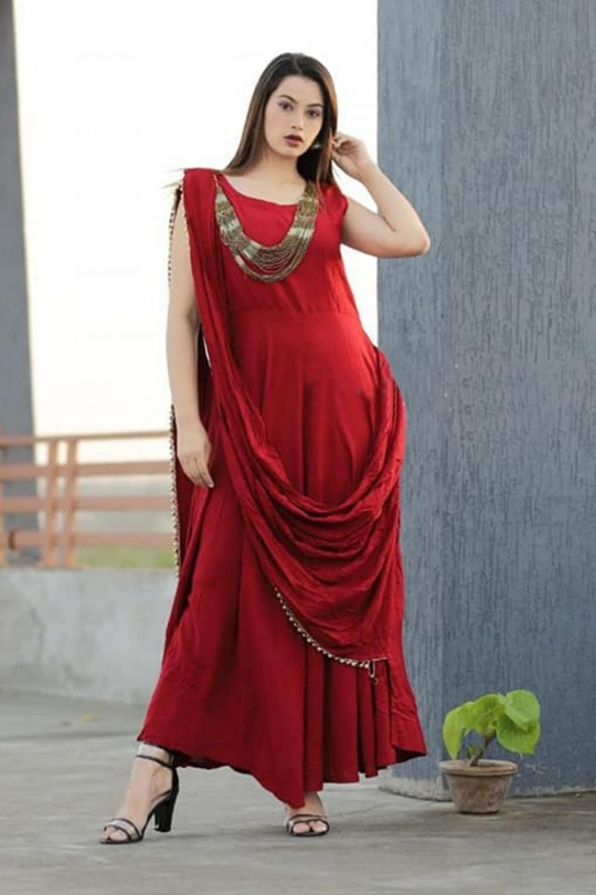 KATRINA PARTY WEAR KURTI WITH JEWELLERY  WHOLESALE RATE AT GOSIYA EXPORTS SURAT  (10)