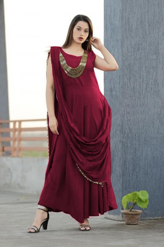 KATRINA PARTY WEAR KURTI WITH JEWELLERY  WHOLESALE RATE AT GOSIYA EXPORTS SURAT  (4)
