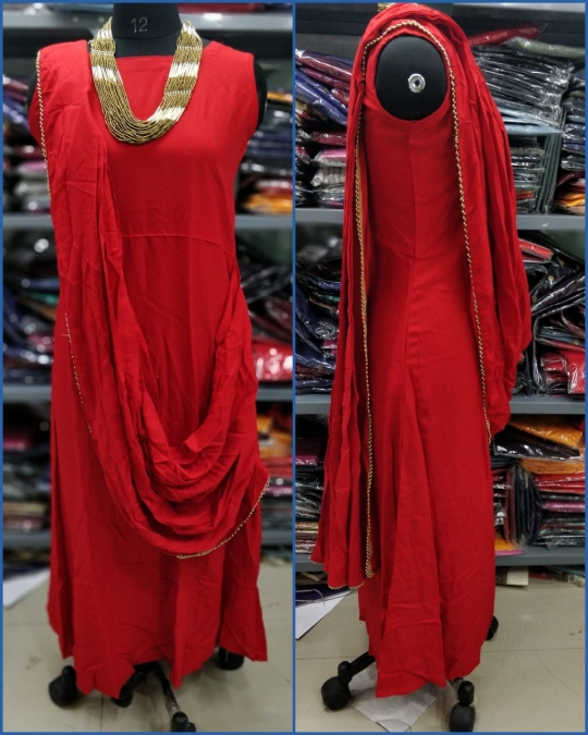 KATRINA PARTY WEAR KURTI WITH JEWELLERY  WHOLESALE RATE AT GOSIYA EXPORTS SURAT  (7)