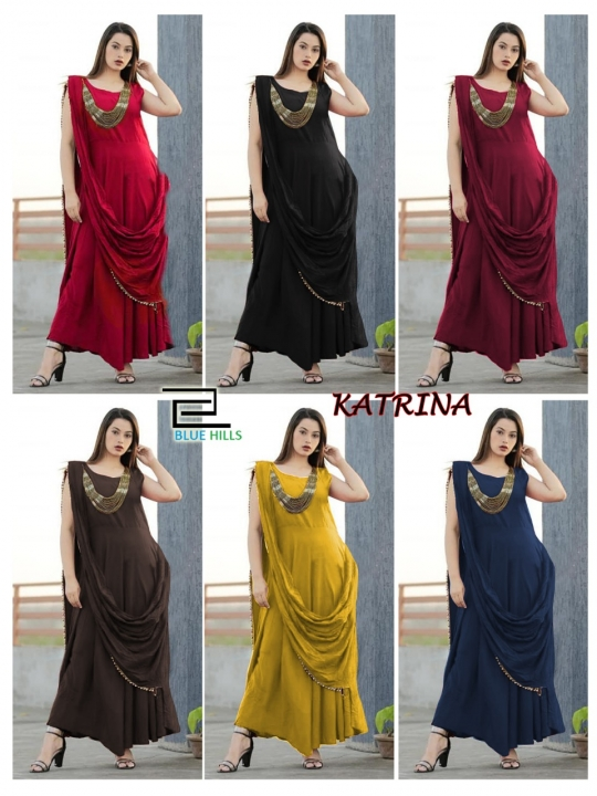 KATRINA PARTY WEAR KURTI WITH JEWELLERY  WHOLESALE RATE AT GOSIYA EXPORTS SURAT  (9)