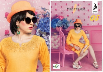 KAYA AQUA VOL 4 CATALOGUE COTTON CAMBRIC SATIN KURTI COLLECTION WHOLESALE SUPPLIER BEST RATE BY GOSIYA EXPORTS SURAT (5)