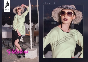 KAYA BY JASMINE COTTON MIRACEL KURTI COLLECTION WHOLESALE SURAT KAYA BEST RATE (7)