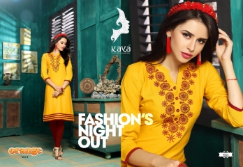 KAYA BY ORANGE VOL 4 FANCY RAYON CASUAL WEAR KURTI COLLECTION WHOLESALE SURAT BEST RATE BY GOSIYA EXPORTS (1)