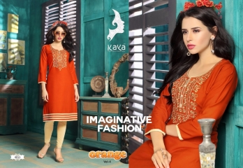 KAYA BY ORANGE VOL 4 FANCY RAYON CASUAL WEAR KURTI COLLECTION WHOLESALE SURAT BEST RATE BY GOSIYA EXPORTS (10)