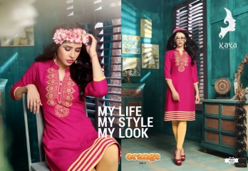 KAYA BY ORANGE VOL 4 FANCY RAYON CASUAL WEAR KURTI COLLECTION WHOLESALE SURAT BEST RATE BY GOSIYA EXPORTS (2)