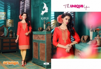 KAYA BY ORANGE VOL 4 FANCY RAYON CASUAL WEAR KURTI COLLECTION WHOLESALE SURAT BEST RATE BY GOSIYA EXPORTS (5)