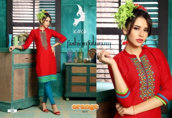 KAYA BY ORANGE VOL 4 FANCY RAYON CASUAL WEAR KURTI COLLECTION WHOLESALE SURAT BEST RATE BY GOSIYA EXPORTS (8)