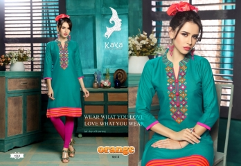 KAYA BY ORANGE VOL 4 FANCY RAYON CASUAL WEAR KURTI COLLECTION WHOLESALE SURAT BEST RATE BY GOSIYA EXPORTS (9)