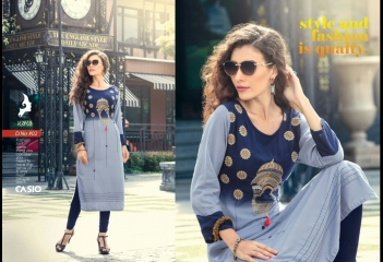 KAYA CASIO CATALOG RAYON EMBROIDERED WORKS PARTY WEAR KURTIS WHOLESALE SUPPLIER BEST RATE BY GOSIYA EXPORTS SURAT (2)