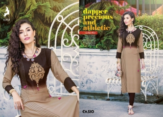 KAYA CASIO CATALOG RAYON EMBROIDERED WORKS PARTY WEAR KURTIS WHOLESALE SUPPLIER BEST RATE BY GOSIYA EXPORTS SURAT (3)