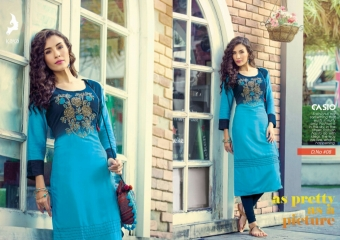 KAYA CASIO CATALOG RAYON EMBROIDERED WORKS PARTY WEAR KURTIS WHOLESALE SUPPLIER BEST RATE BY GOSIYA EXPORTS SURAT (7)