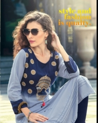 KAYA CASIO CATALOG RAYON EMBROIDERED WORKS PARTY WEAR KURTIS WHOLESALE SUPPLIER BEST RATE BY GOSIYA EXPORTS SURAT