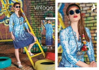 KAYA DIVA VOL 5 RAYON MUDAL PRINT WHOLESALE BEST RATE KURTI KAYA (1)