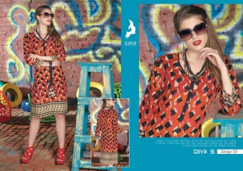KAYA DIVA VOL 5 RAYON MUDAL PRINT WHOLESALE BEST RATE KURTI KAYA (3)